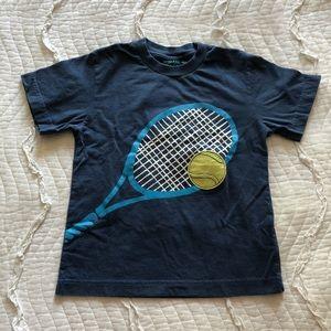 mini Boden 5-6Y Blue Tennis Tee Shirt